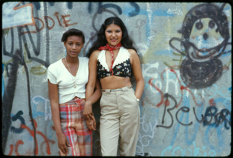 two teenage girls, New York, 1970s