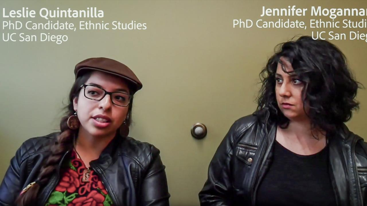 Leslie Quintanilla and Jennifer Mogannam