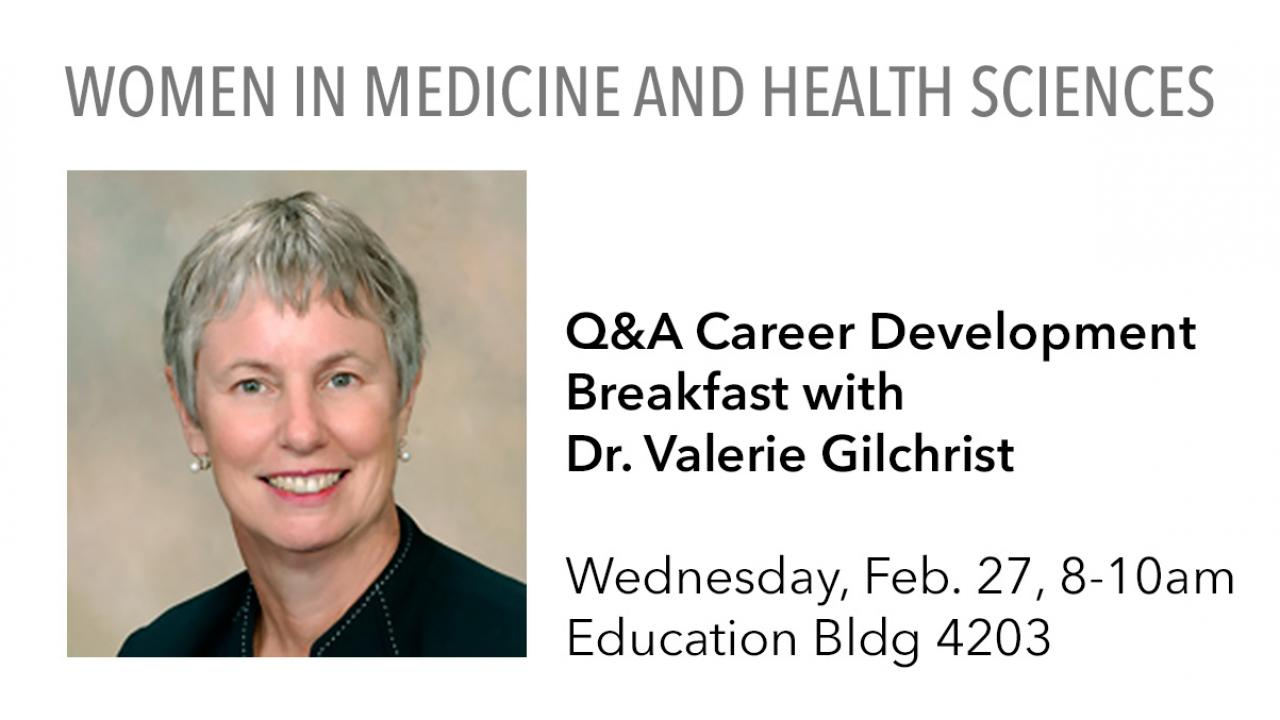 WIMHS Q&A Career Development Breakfast with Dr. Valerie Gilchrist