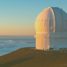 Photo of telescope above the clouds