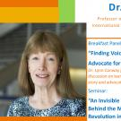 Dr. Lynn Conway event banner, includes a headshot and announcement
