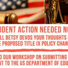 SAAAC Call to Action: #HANDSOFFTITLEIX Workshops